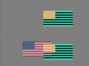 United States flag afterimage simulation